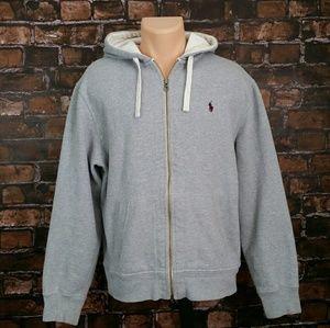 Polo Ralph Lauren full Zip grey hoodie